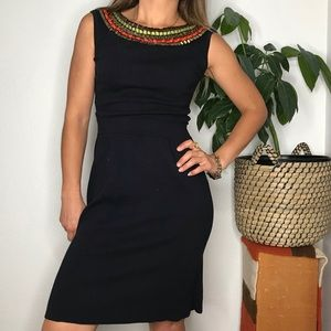 Vintage Milly embellished party dress black small